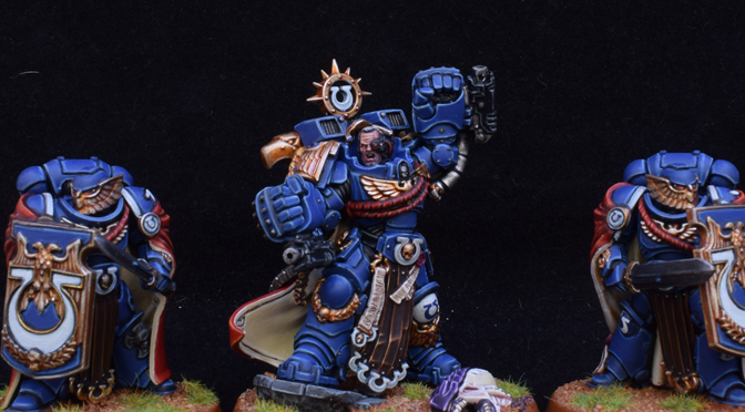 Marneus Calgar and Victrix Guard